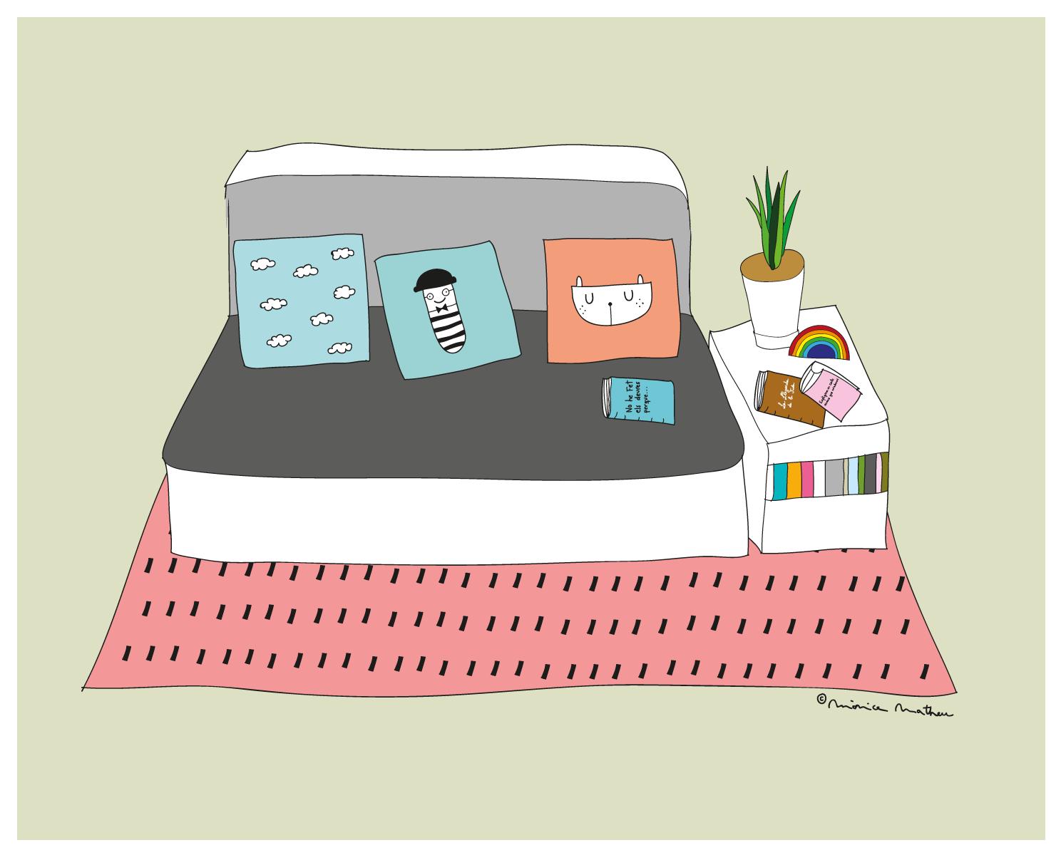 Ilustración personalizada de interior